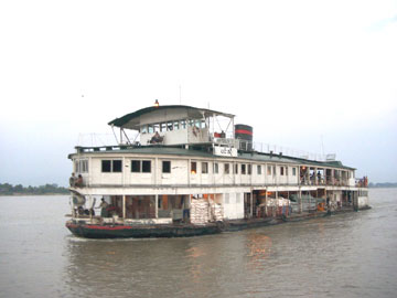Irrawaddy river cruiser near Mandalay. ©2002, James A. Clapp