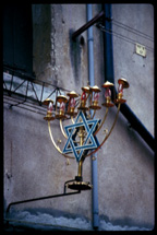 Menorah on Jewish Shop ©James A. Clapp