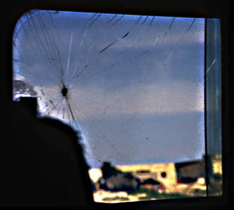 Bus window view of Hebron  ©1991 UrbisMedia