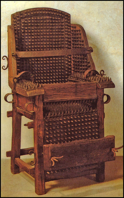 Inquisitor's Chair, Spanish Inquisition