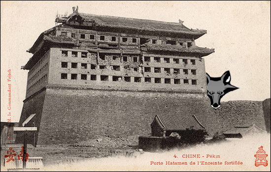 Period French postcard, with added fox by UrbisMedia